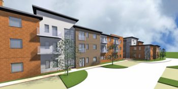 Extra Care Facility 3D model. Biggleswade, Bedfordshire