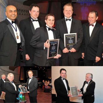 brp accepting winning and highly commended awards 2010. Antony Kavanagh, Lee Hankins, Robert Atherton of brp architects
