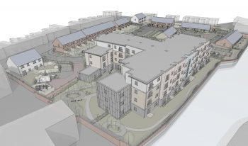 Proposed visual representation taken from the East corner of the site