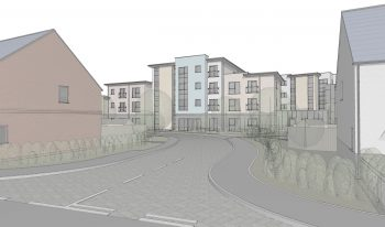 Proposed visual representation of site entrance from Derby Road