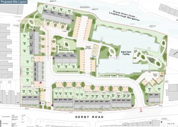 New extra care and affordable housing off Derby Road - site plan.