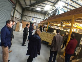 brp architects taking the factory tour at WestFrame in Leicestershire