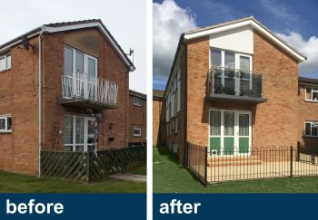 External works and building facade improvements, Wellingborough