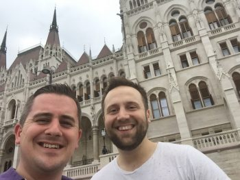 Lee Hankins and Stevie Hart - Hungarian Parliament Building