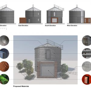 Concept elevations and materials