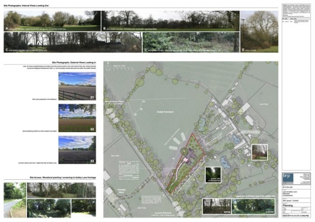 Planning drawing site context