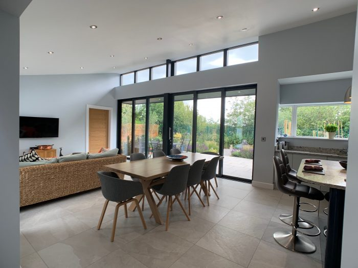 ARPA House, Living, Dining and Kitchen area
